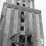 Ślady na elewacji budynku