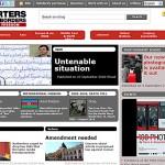 Strona serwisu Reporterzy bez granic, rsf.org