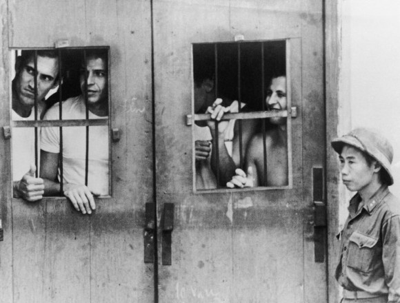 Jeńcy amerykańscy w Hanoi, marzec 1973 r. Fot. Horst Faas/AP (za denverpost.com)